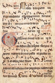 An example of Gregorian chant from the 14th-15th century. Photo used under Wikipedia commons licence