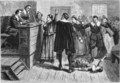 1876 illustration of Salem witchcraft trials. Published under Creative Commons licence