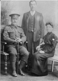 William Burton before embarking for France,with his wife and brother.