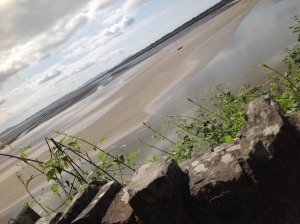View from Dylan Thomas home on the estuary at Laugharne,