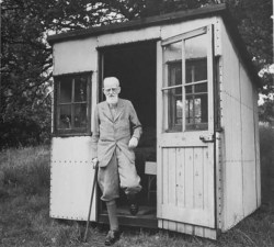 G. B Shaw's writing hut. Photo credit: http://moderngeriatric.tumblr.com