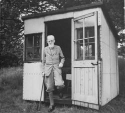 G. B Shaw's writing hut. Photo credit: http://moderngeriatric.tumblr.com